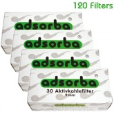 Adsorba Pipe Filters 9mm - 120 Filters