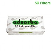 Adsorba Pipe Filters 9mm - 30 Filters