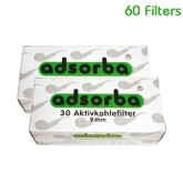 Adsorba Pipe Filters 9mm - 60 Filters