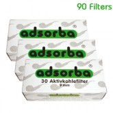 Adsorba Pipe Filters 9mm - 90 Filters